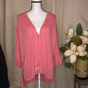 Free people oversized coral summer top
